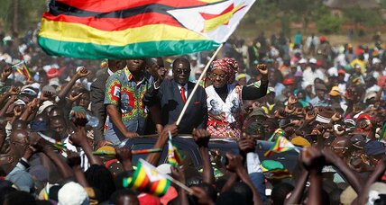 Thousands attend Mugabe's 'One Million-Man' march as factions jockey